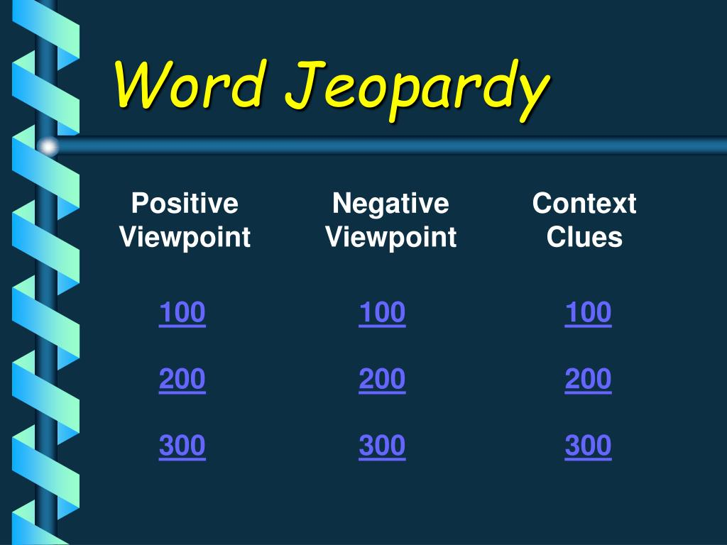 Word Jeopardy
