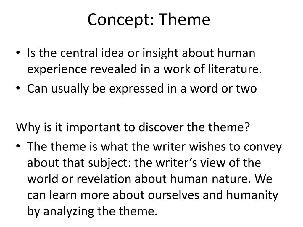 Concept: Theme