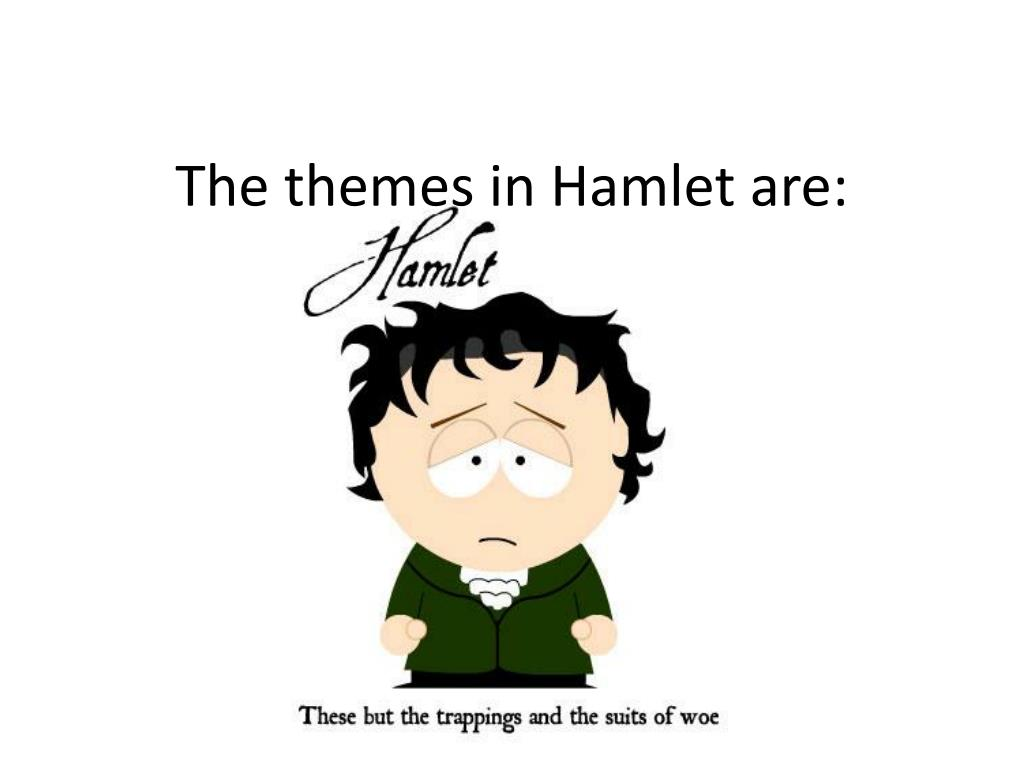 The themes in Hamlet are: