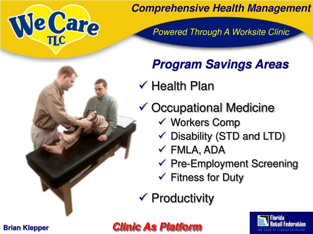 Program Savings Areas