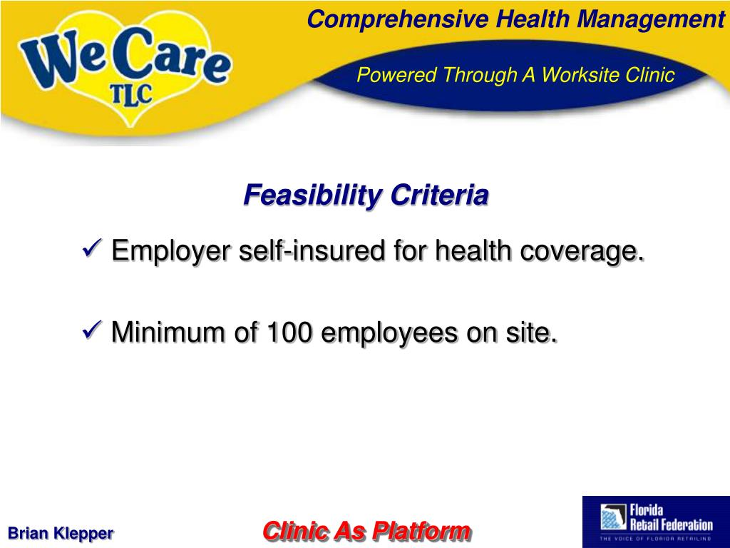 Feasibility Criteria