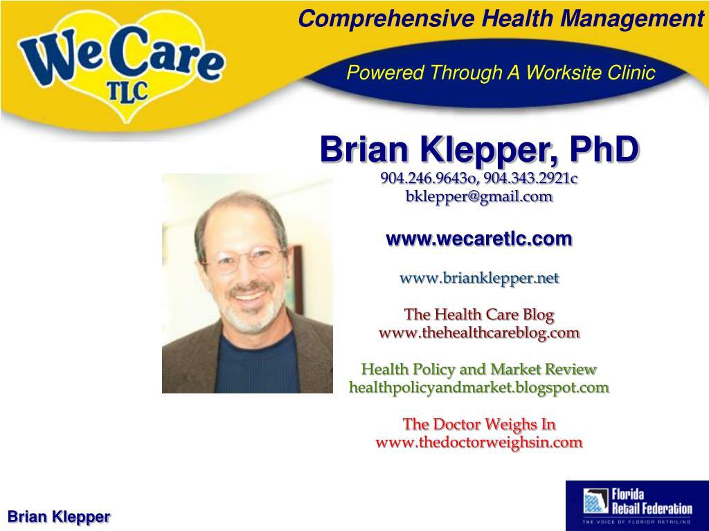 Brian Klepper, PhD