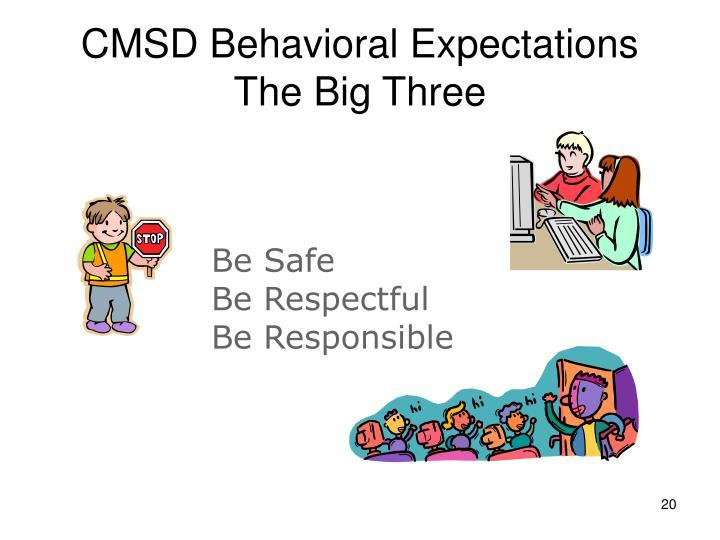 CMSD Behavioral Expectations