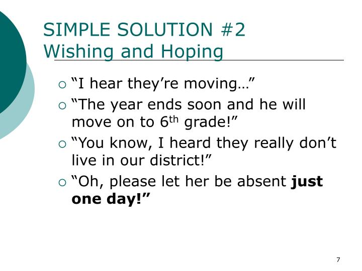 SIMPLE SOLUTION #2