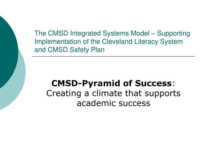 The CMSD Integrated Systems Model – Supporting Implementation of the Cleveland Literacy System and...