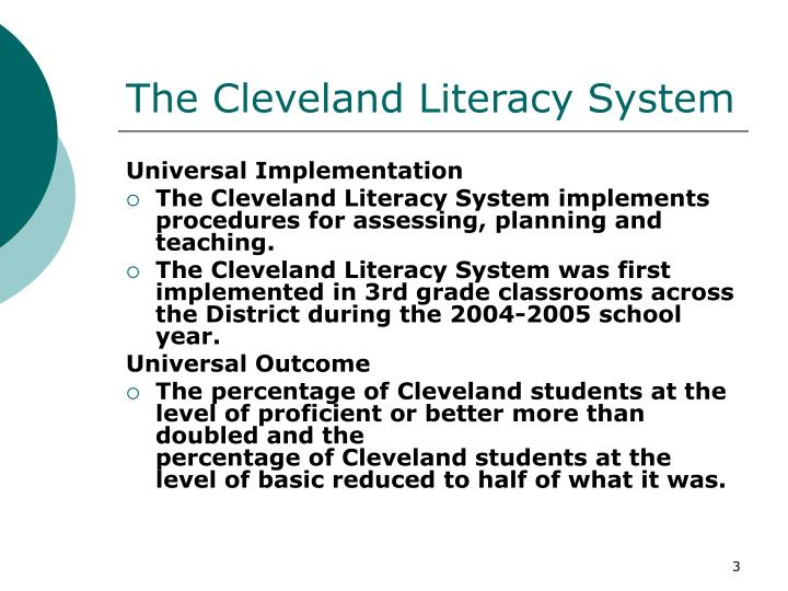 The cleveland literacy system