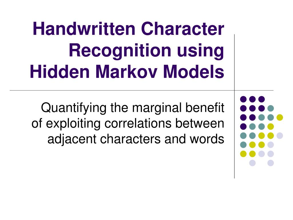 Handwritten Character Recognition using