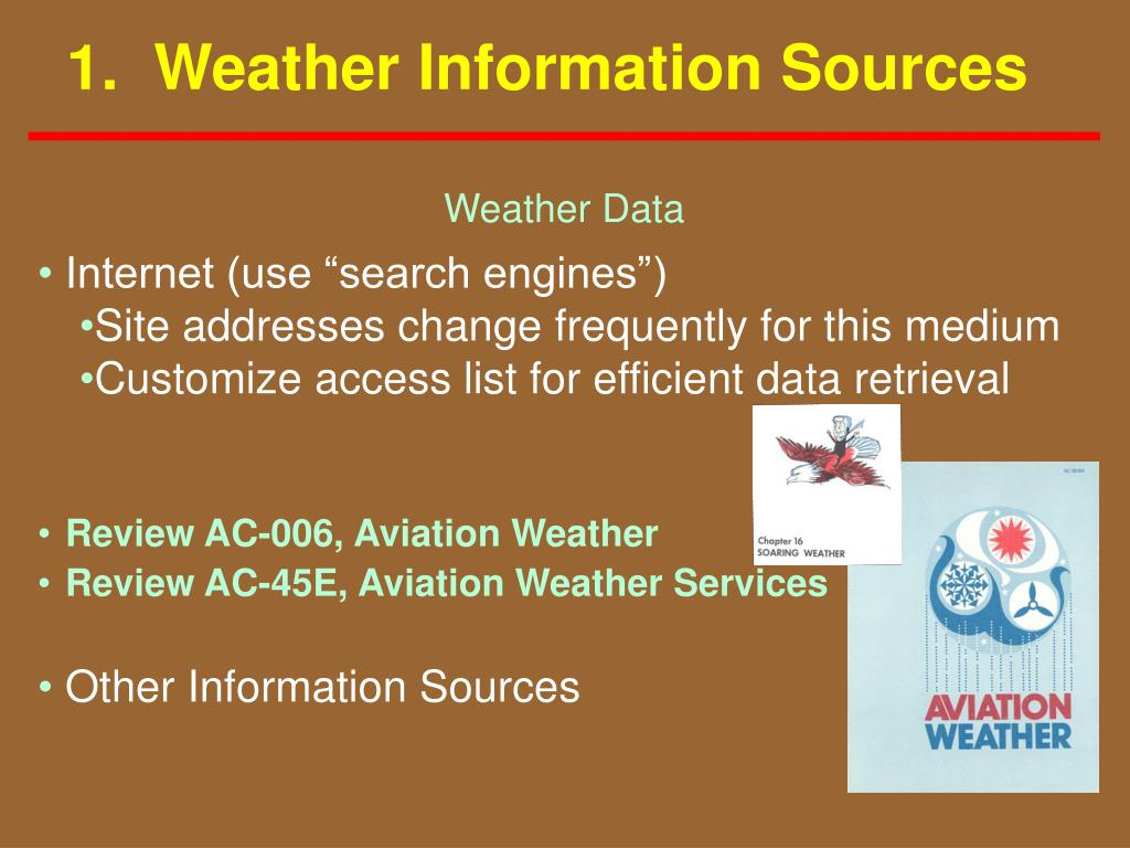 1.  Weather Information Sources