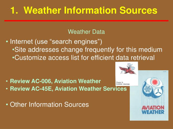 1 weather information sources
