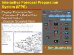 interactive forecast preparation system ifps