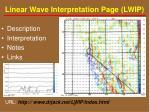 linear wave interpretation page lwip
