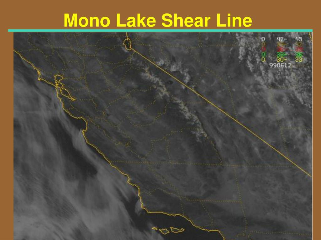 Mono Lake Shear Line