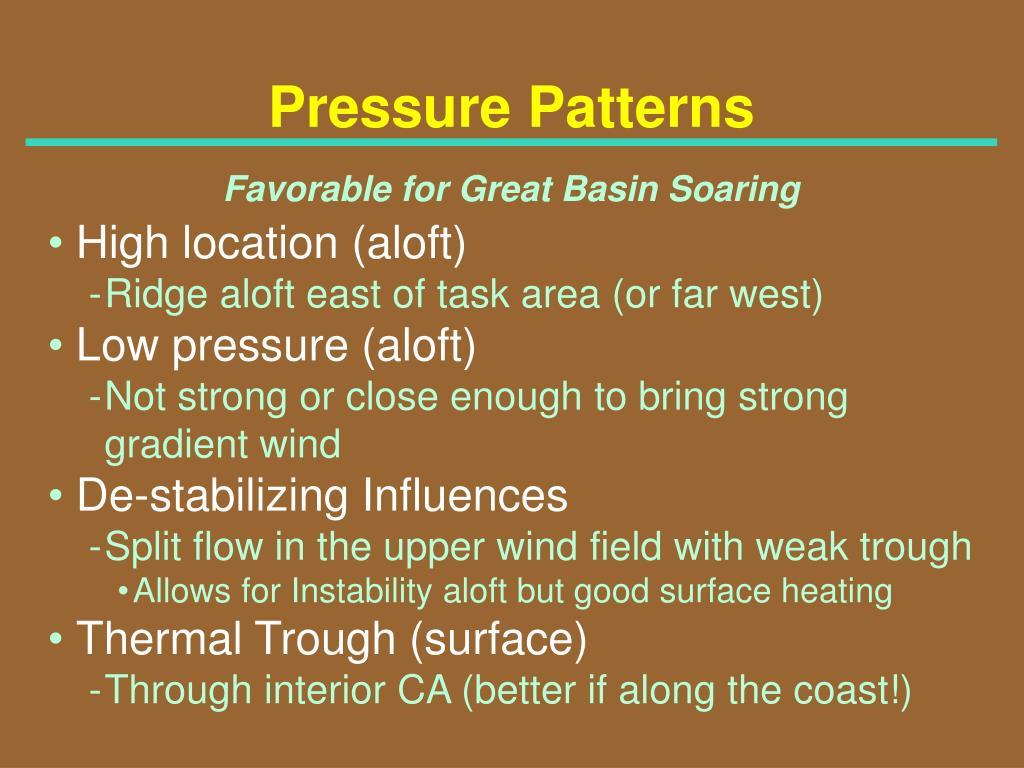 Pressure Patterns
