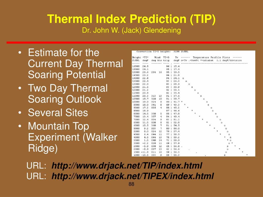 Thermal Index Prediction (TIP)