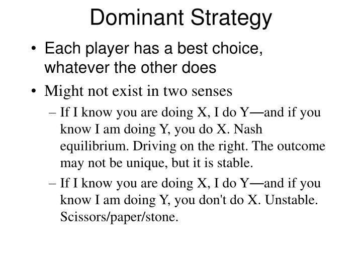 Dominant strategy