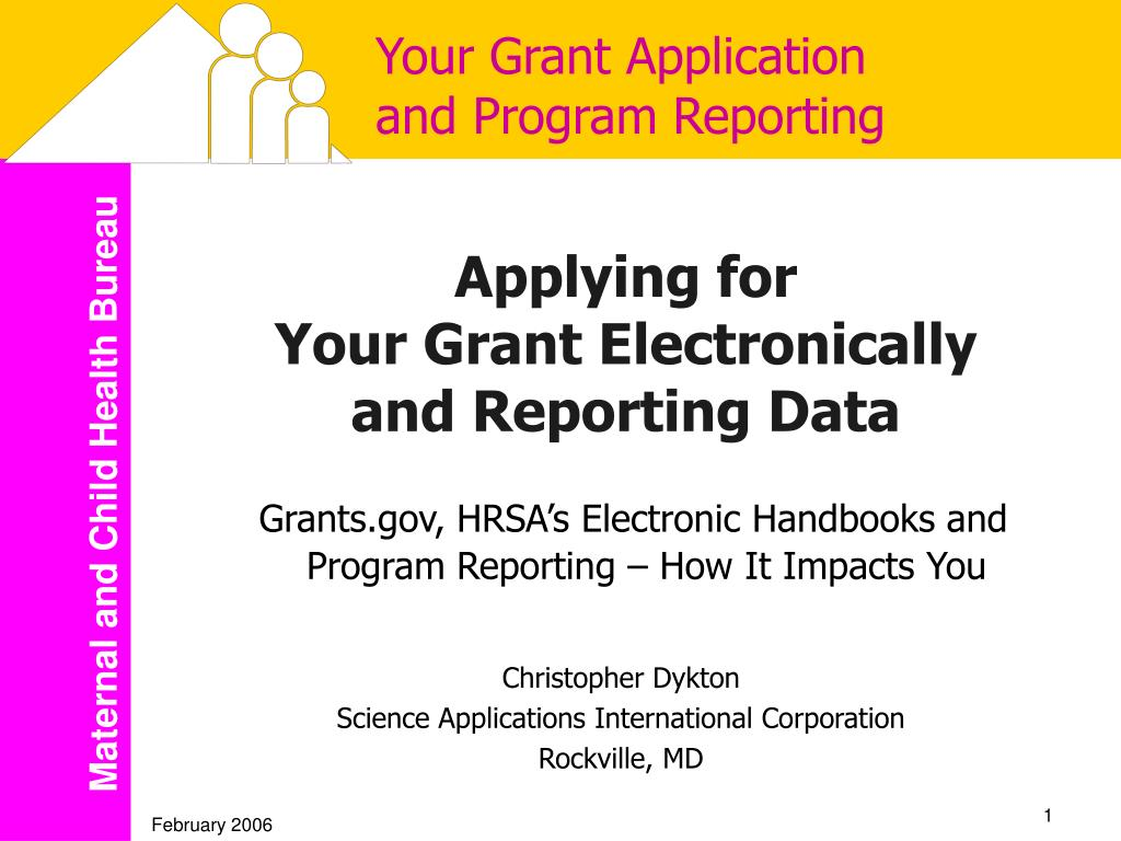 your grant application and program reporting l.