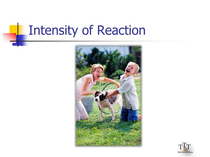 Intensity of Reaction