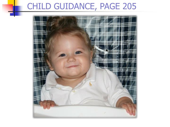 CHILD GUIDANCE, PAGE 205