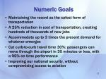 numeric goals