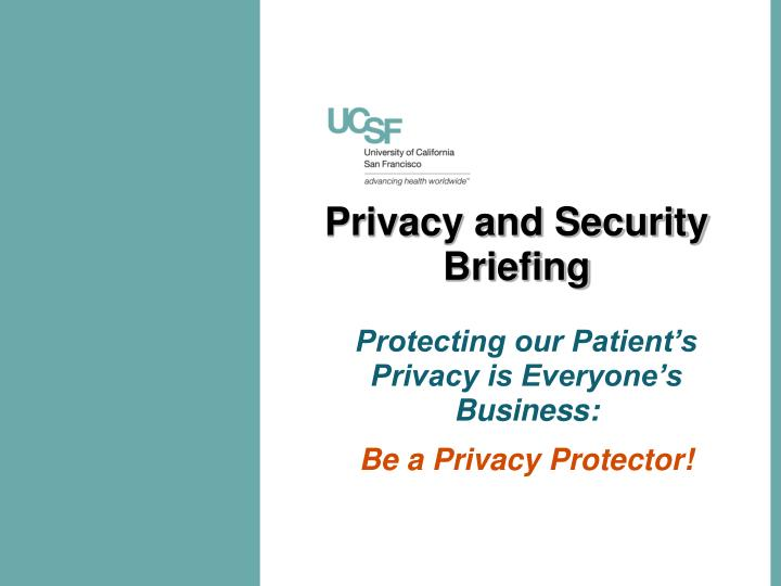 privacy and security briefing n.
