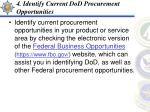 4 identify current dod procurement opportunities