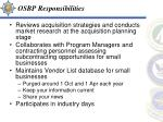 osbp responsibilities