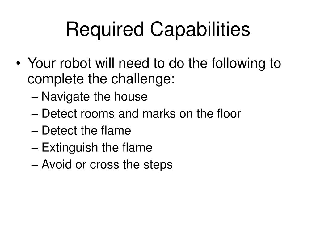 Required Capabilities