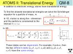 atoms ii translational energy