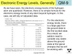 electronic energy levels generally