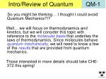 intro review of quantum