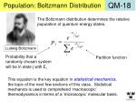 population boltzmann distribution
