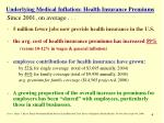 underlying medical inflation health insurance premiums