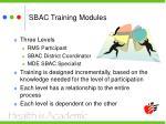 sbac training modules