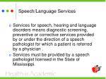 speech language services