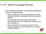 speech language services1