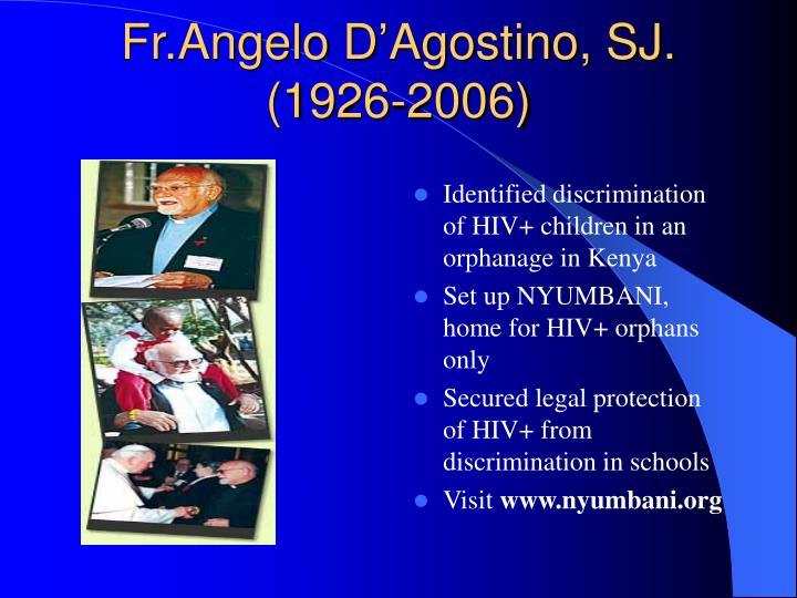 Fr angelo d agostino sj 1926 2006
