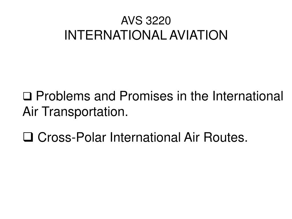avs 3220 international aviation l.