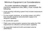 minimum equipment list considerations