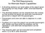the faa requirements for alternate airport capabilities