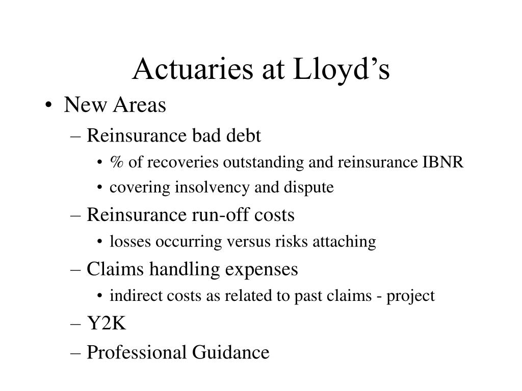 Actuaries at Lloyd's