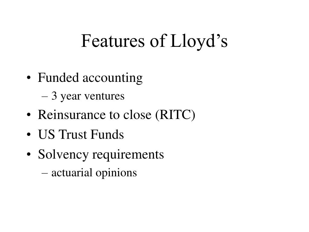 Features of Lloyd's