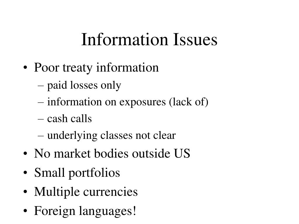 Information Issues