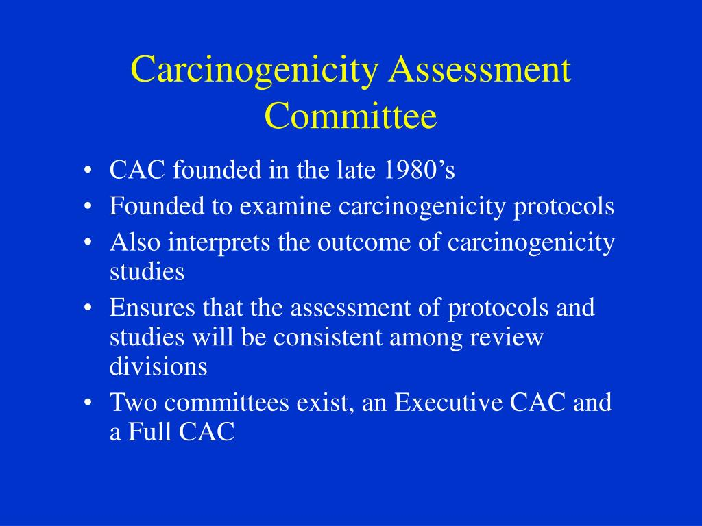 Carcinogenicity Assessment Committee