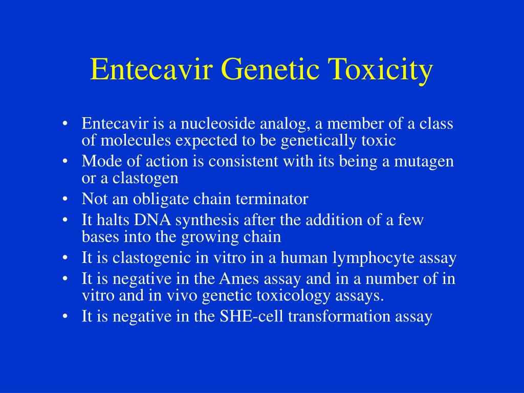 Entecavir Genetic Toxicity