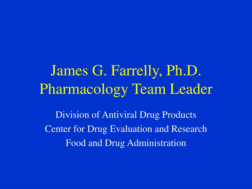 James G. Farrelly, Ph.D.