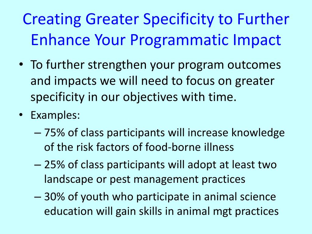 Creating Greater Specificity to Further Enhance Your Programmatic Impact