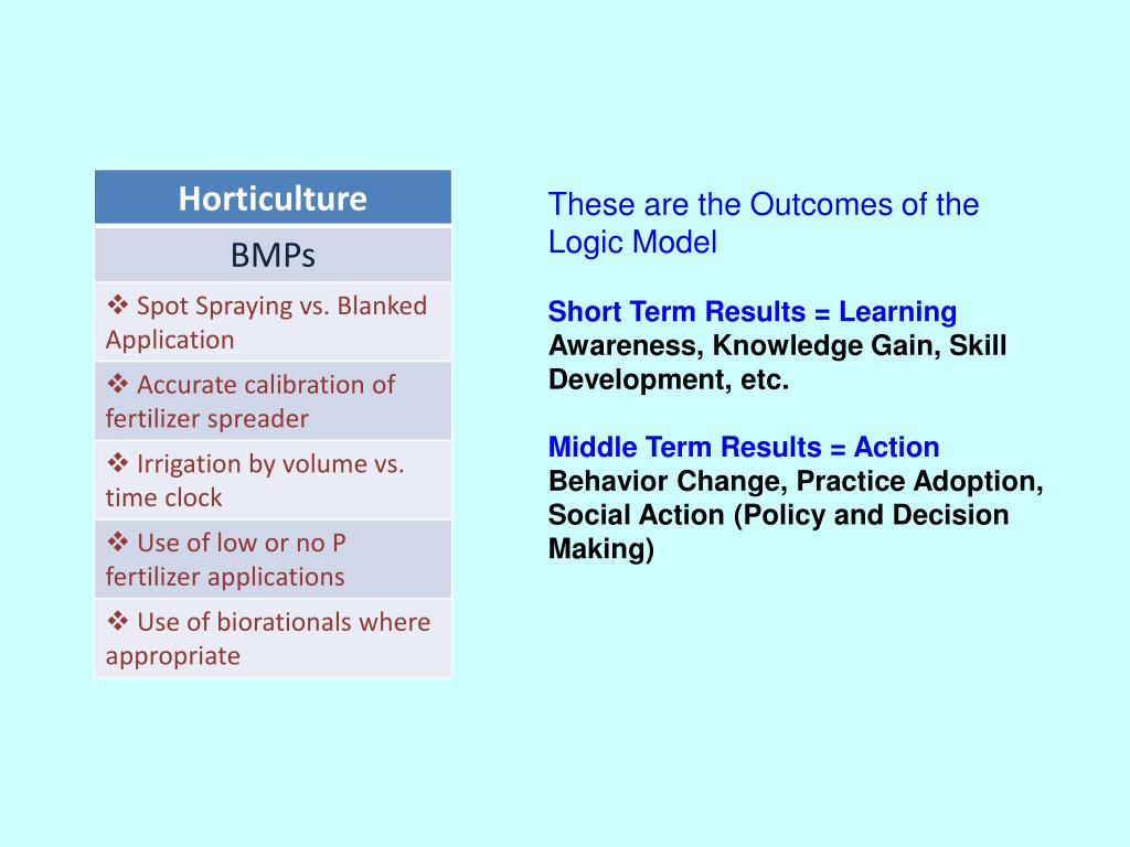 These are the Outcomes of the