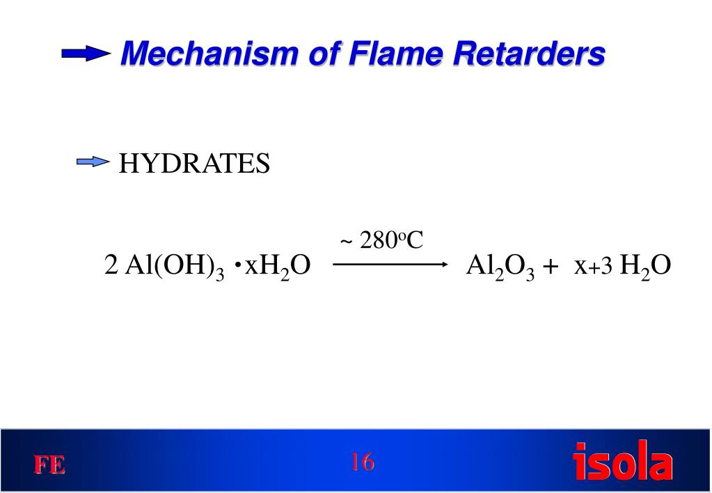 Mechanism of Flame Retarders