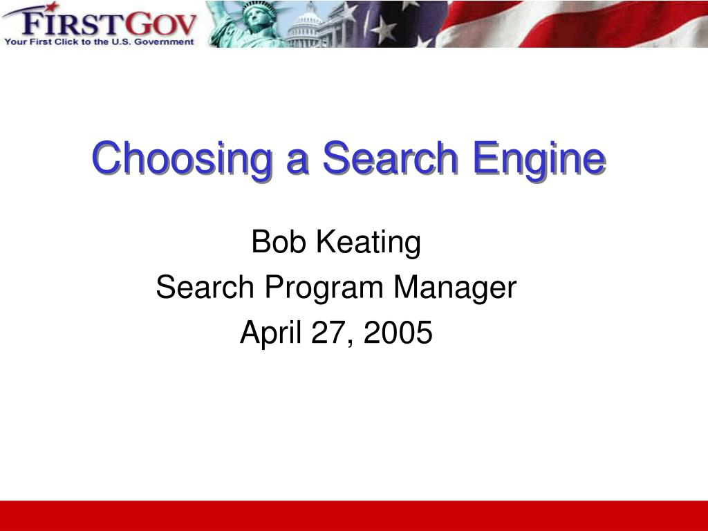 choosing a search engine l.