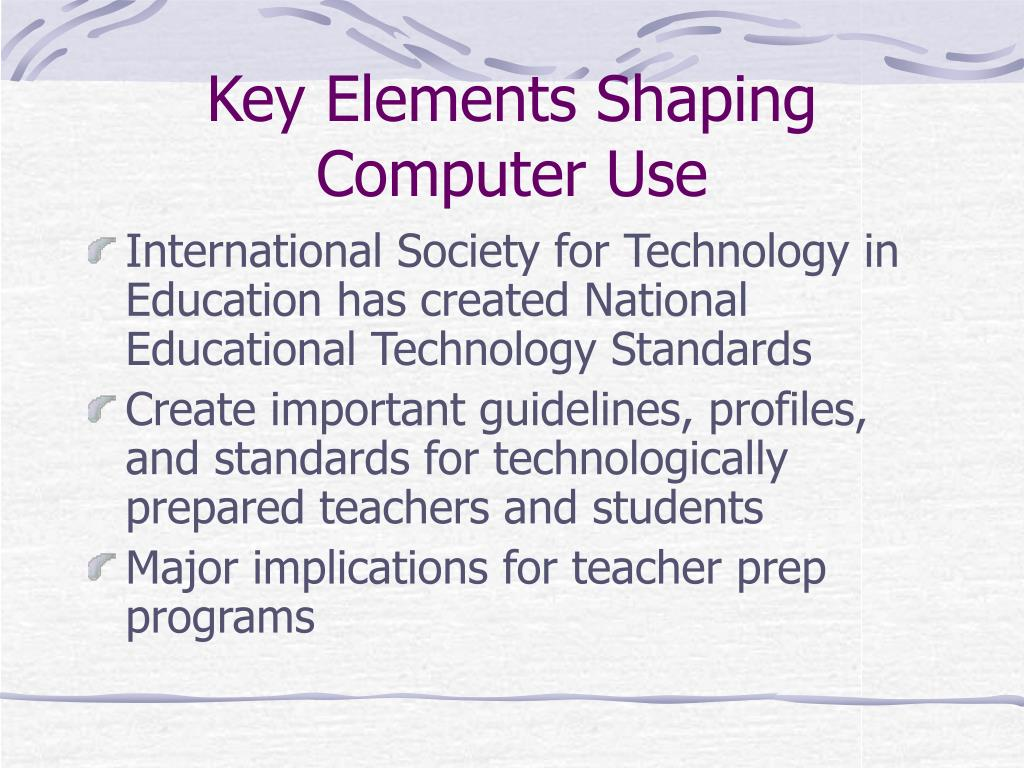 Key Elements Shaping Computer Use
